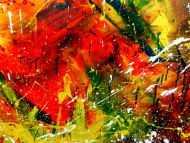 Detailaufnahme Sehr modernes abstraktes Acrylgemälde sehr bunt und einzigartig