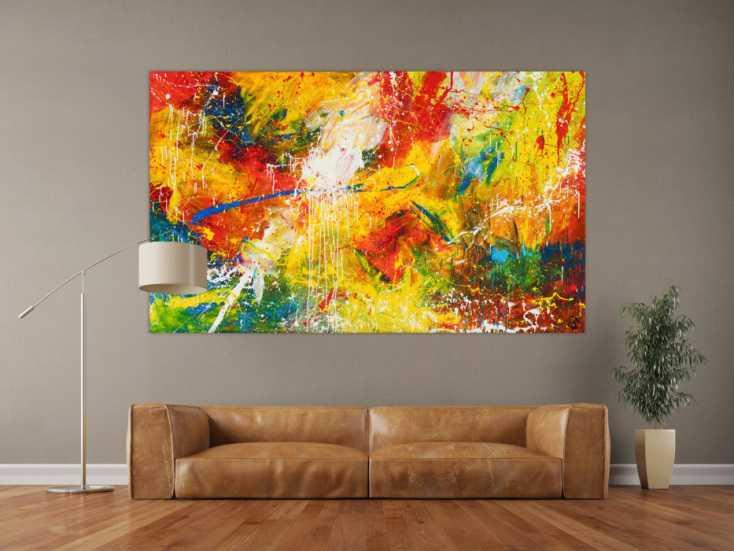 #550 Sehr modernes abstraktes Acrylgemälde sehr bunt und einzigartig 120x200cm von Alex Zerr