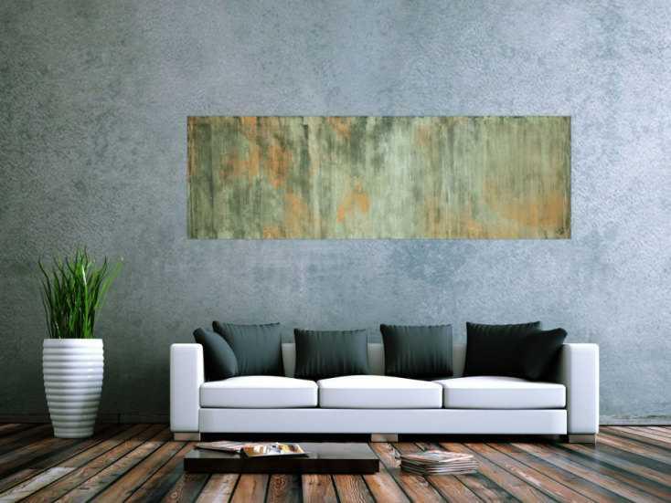 #56 Abstraktes Bild Camouflage 60x200cm von Alex Zerr