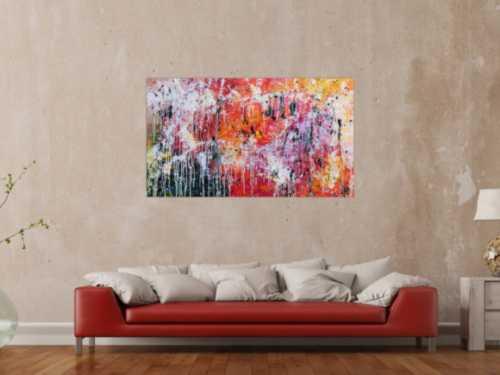 Abstraktes modernes Gemälde acryl sehr bunt und viele Farben