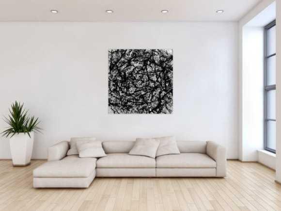 abstrakte gem lde in schwarz wei online kaufen. Black Bedroom Furniture Sets. Home Design Ideas