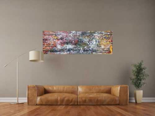 Modernes abstraktes Acrylgemälde zeitgenössisch und bunt