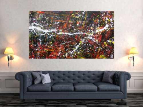 Großes abstraktes Gemälde zeitgenössisch und modern
