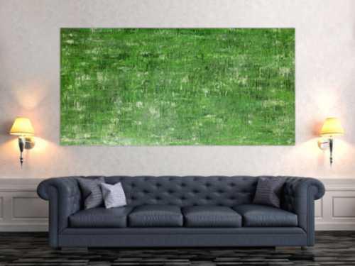 Abstraktes Acrylbild grünes Muster