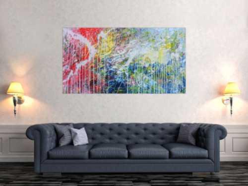 Helles abstraktes Acrylbild mondern zeitgenössich