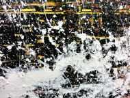 Detailaufnahme Modernes Gemälde abstrakt diptychon aus zwei Teilen