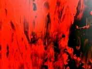 Detailaufnahme Abstraktes gemälde schwarz rot modern schlicht minmalistisch