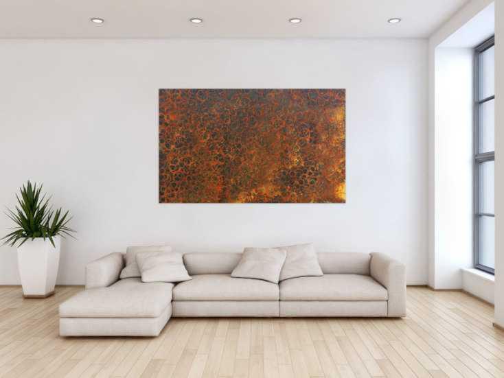 #578 Gemälde aus echtem Rost modern abstrakt 100x160cm von Alex Zerr