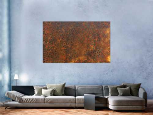 Gemälde aus echtem Rost modern abstrakt