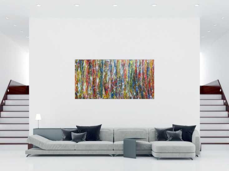 #58 Abstraktes Acrylbild 100x200cm von Alex Zerr