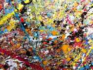 Detailaufnahme Sehr großes XXL Gemälde abstrakt modern sehr bunt