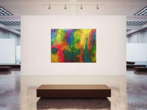 Modernes Gemälde sehr bunt abstrakt viele Farben