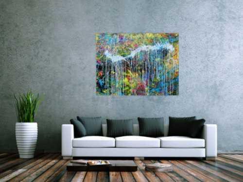 Abstraktes Acrylgemälde modern bunt zeitgenössisch