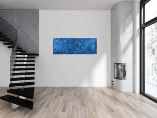 Abstraktes Acrylbild blau