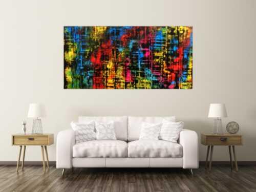 Buntes abstraktes Gemälde viele Farben sehr modern