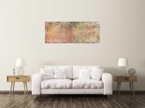 Helles und schlichtes zeitgenössisches Gemälde abstrakt modern