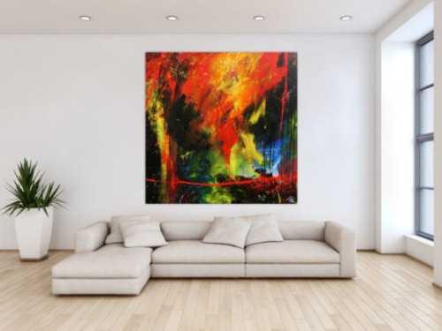 Sehr modernes abstraktes Gemälde zeitgenössiche Malerei