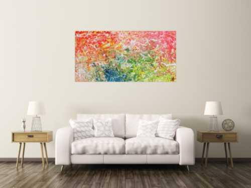Modernes abstraktes Gemälde mit hellen bunten Farben