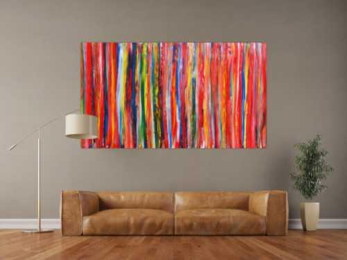 Abstraktes modernes Gemälde mit bunten Streifen