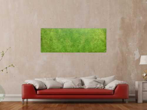 Abstraktes Acrylbild grün