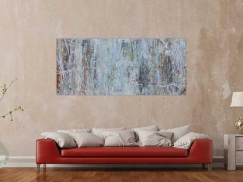 Abstraktes Gemälde modern schlicht mit hellen Farben
