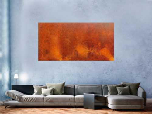 Modernes Gemälde aus echtem Rost abstrakt