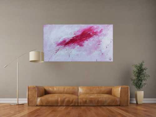 pinke abstrakte gem lde online kaufen. Black Bedroom Furniture Sets. Home Design Ideas