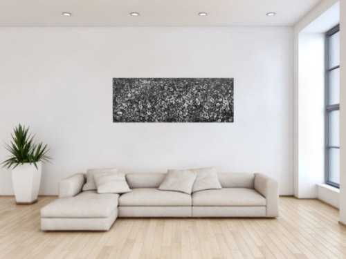 Schwarzes Acrylbild abstrakt