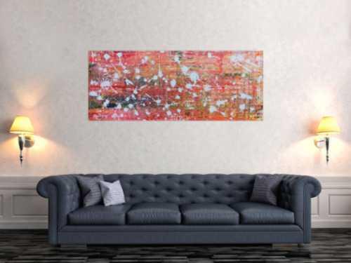 Modernes abstraltes Gemälde mit hellen Farben