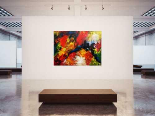 Sehr buntes und modernes abstraktes Acrylgemälde