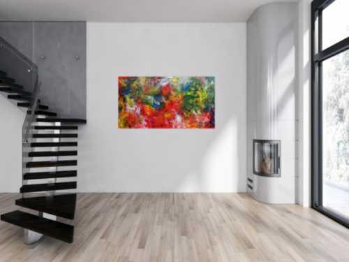 Abstrakteas Acrylgemälde modern bunt viele Farben