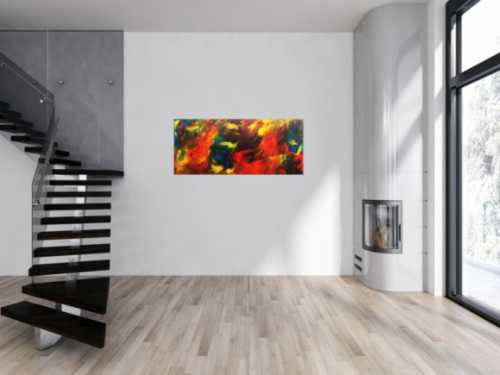 Buntes abstraktes Acrylbild moderne Malerei mit vielen Farben