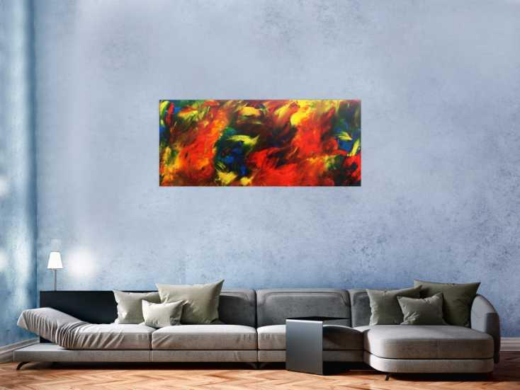 buntes abstraktes acrylbild moderne malerei mit vielen. Black Bedroom Furniture Sets. Home Design Ideas