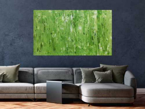 Modernes schlichtes Acrylbild abstrakt in grün