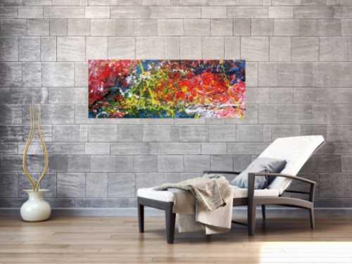 Modernes buntes Acrylgemälde abstrakt