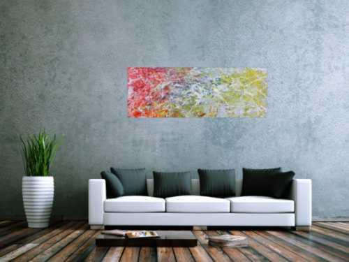 Abstraktes Acrylgemälde modern bunt helle Farben