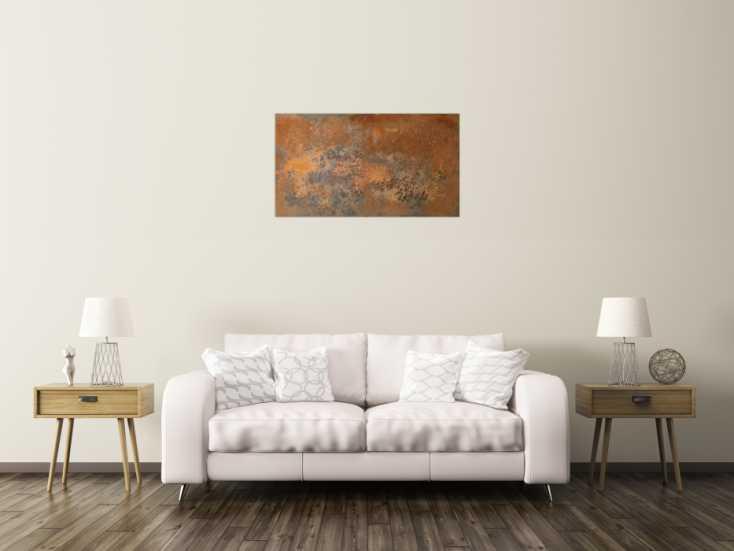 #63 Sehr modernes Rostbild - abstrakt 55x100cm von Alex Zerr