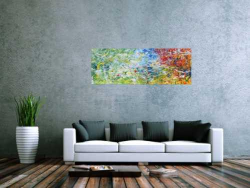 Abstraktes Gemälde modern mit hellen Farben bunt
