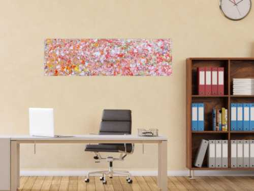 Sehr modernes Acrylgemälde abstrakt mit hellen Farben