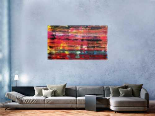 Buntes Acrylgemälde modern abstrakt bunt und farbenfroh