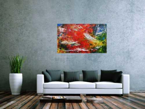 Abstraktes Acrylgemälde bunt und modern