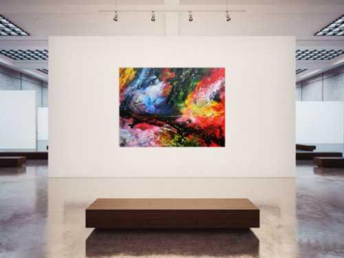 Sehr großes abstraktes Acrylgemälde modern und zeitgenössisch