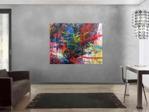 Buntes abstraktes Acrylbild moderne zeitgenössische Malerei
