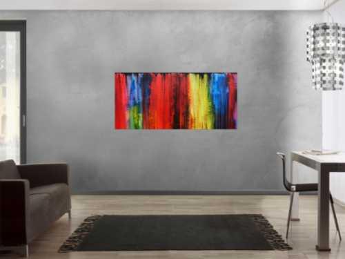 Abstraktes Acrylgemälde bunt modern und farbenfroh