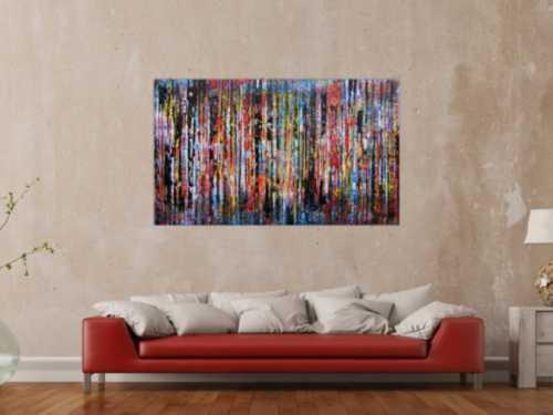 Sehr buntes Acrylbild abstrakte moderne Malerei