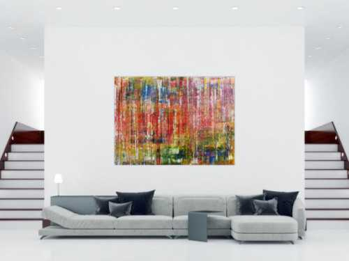 Buntes abstraktes Acrylbild sehr groß modern und zeitgenössisch