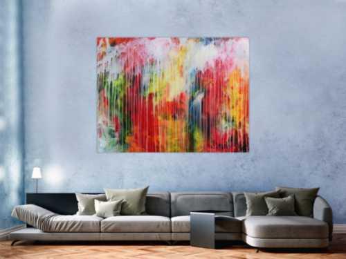 Modernes abstraktes Acrylbild modern mit sehr vielen Farben