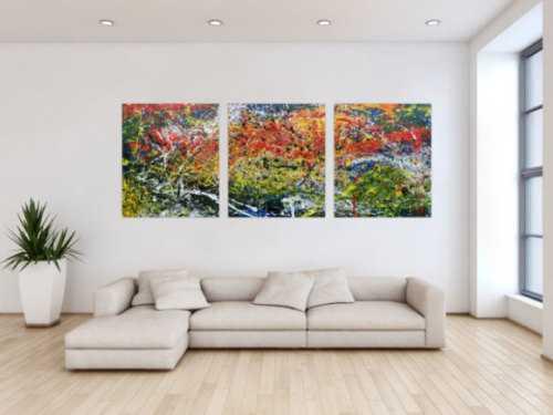 mehrteilige abstrakte gem lde online kaufen. Black Bedroom Furniture Sets. Home Design Ideas