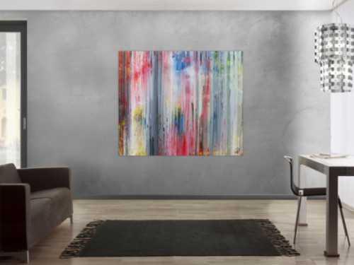 Abstraktes Acrylbild modern schlicht helle Farben