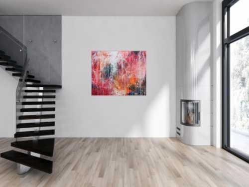Buntes Acrylbild abstrakt sehr modern viele Farben zeitgenössisch